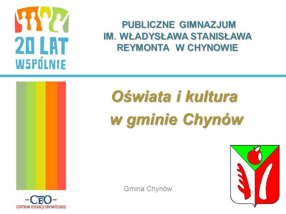 Oświata i kultura w gminie Chynów w gminie Chynów Gmina Chynów