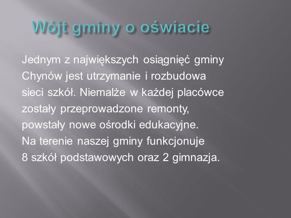 """Kompleks boisk """"Orlik 2012 służy nie tylko uczniom gimnazjum, ale także wszystkim mieszkańcom gminy Chynów."""