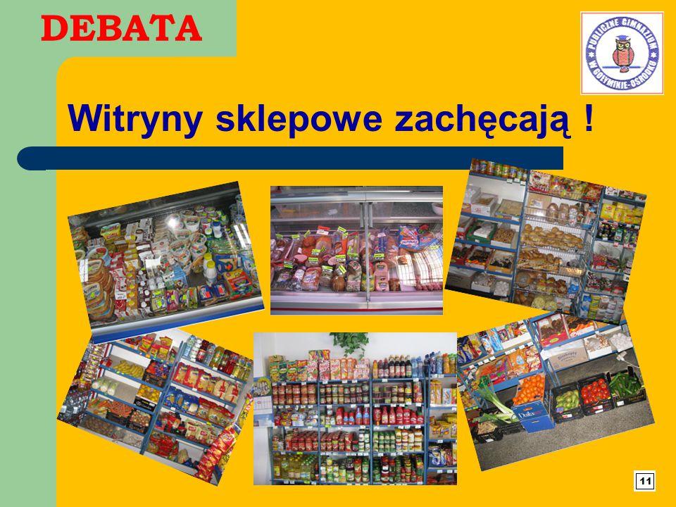 DEBATA Witryny sklepowe zachęcają !