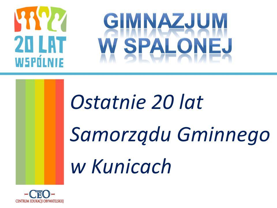 Ostatnie 20 lat Samorządu Gminnego w Kunicach