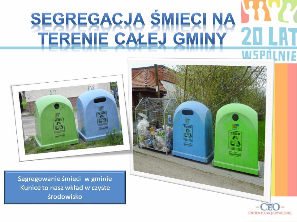 Segregowanie śmieci w gminie Kunice to nasz wkład w czyste środowisko