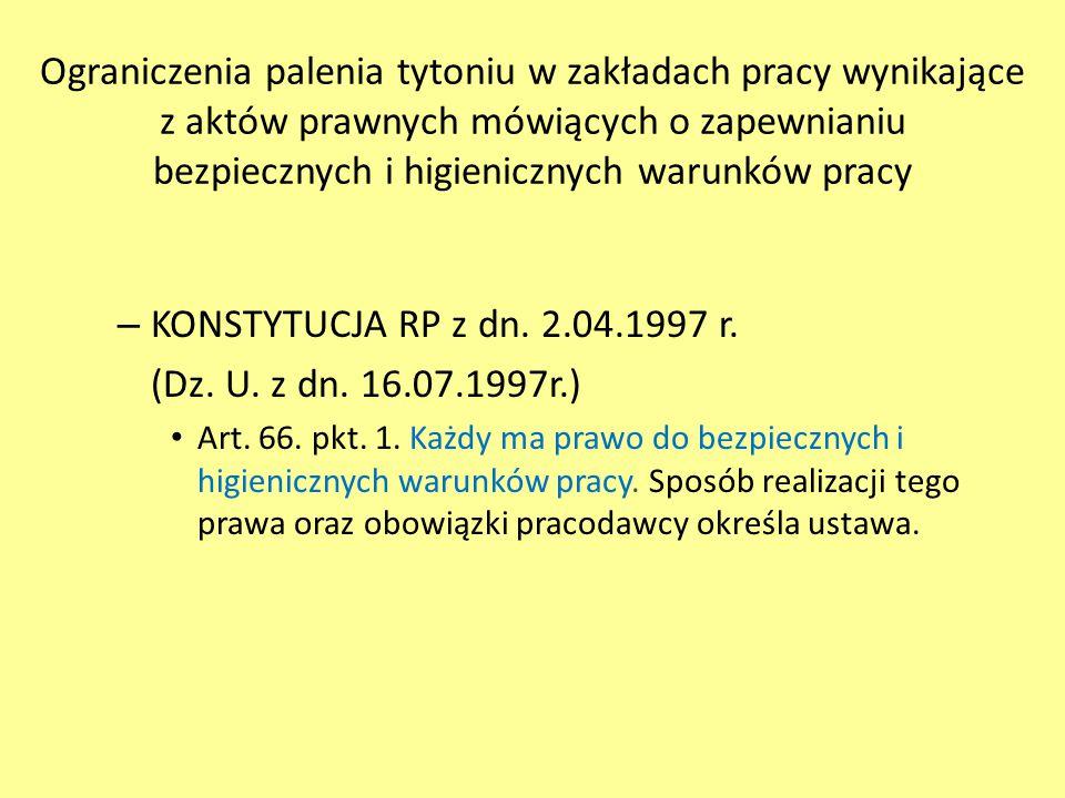 – KODEKS PRACY - USTAWA z dn.26.06.1974r. (Dz.U.98.21.94 z zm.) Art.