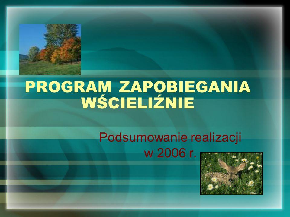 PROGRAM ZAPOBIEGANIA WŚCIELIŹNIE Podsumowanie realizacji w 2006 r.