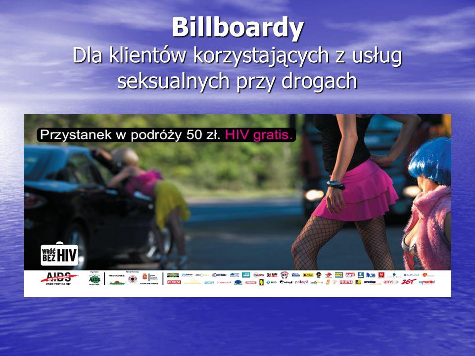 Billboardy Dla klientów korzystających z usług seksualnych przy drogach