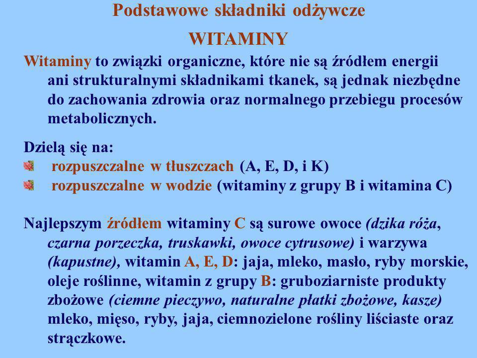 Witaminy to związki organiczne, które nie są źródłem energii ani strukturalnymi składnikami tkanek, są jednak niezbędne do zachowania zdrowia oraz nor