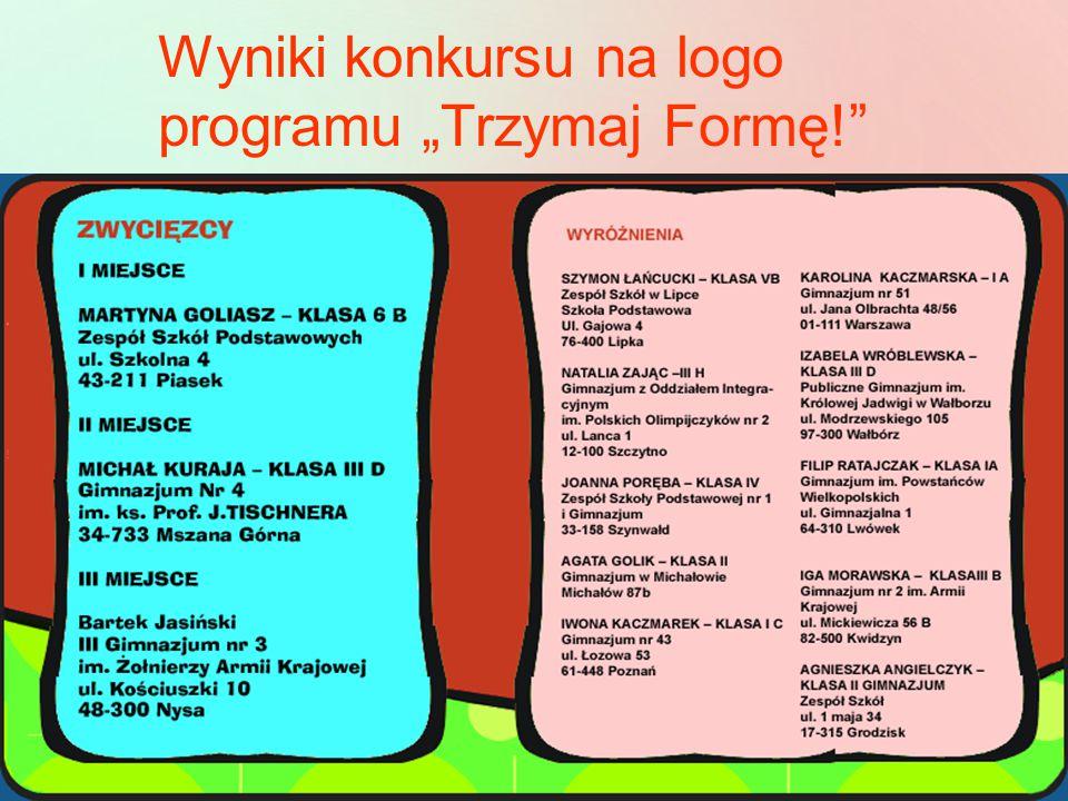 """Wyniki konkursu na logo programu """"Trzymaj Formę!"""""""