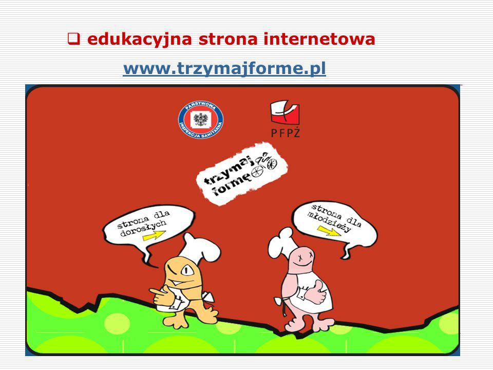  edukacyjna strona internetowa www.trzymajforme.pl
