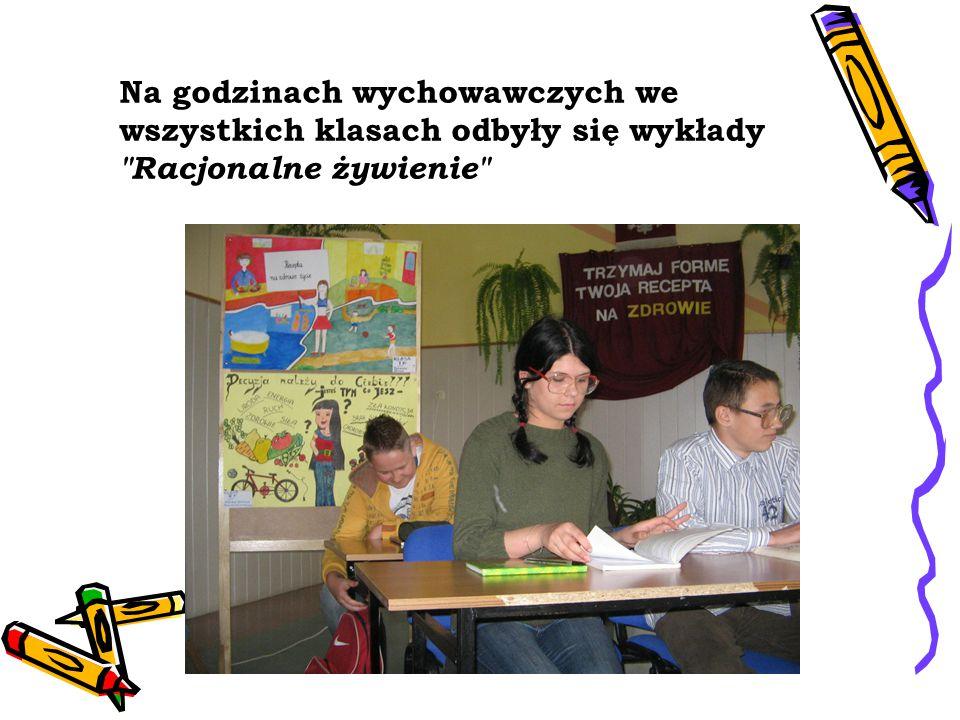 Na godzinach wychowawczych we wszystkich klasach odbyły się wykłady