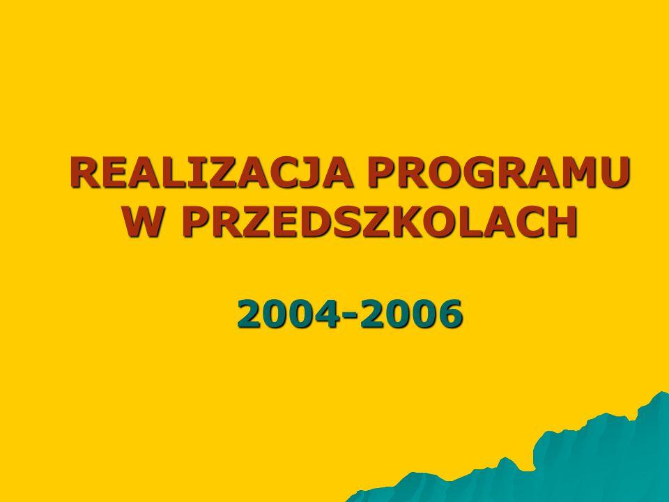 REALIZACJA PROGRAMU W PRZEDSZKOLACH 2004-2006