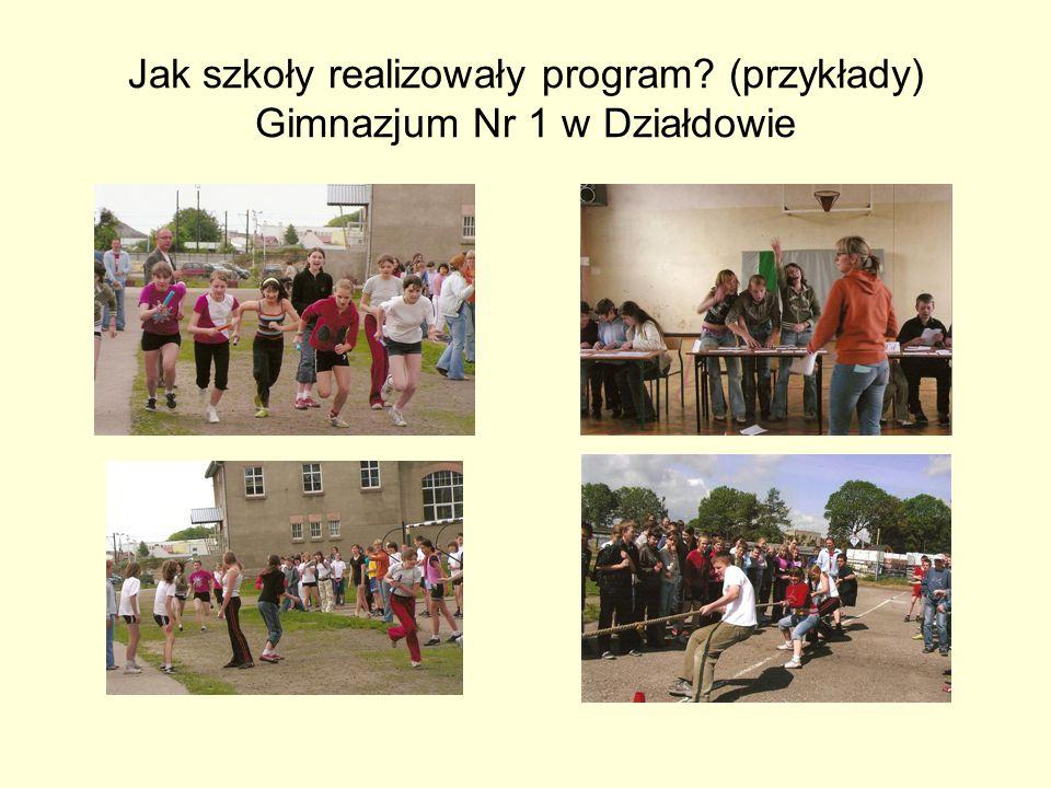 Jak szkoły realizowały program? (przykłady) Gimnazjum Nr 1 w Działdowie