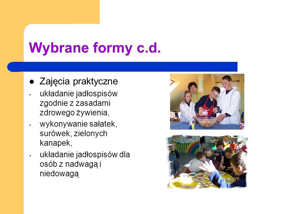 Wybrane formy c.d.