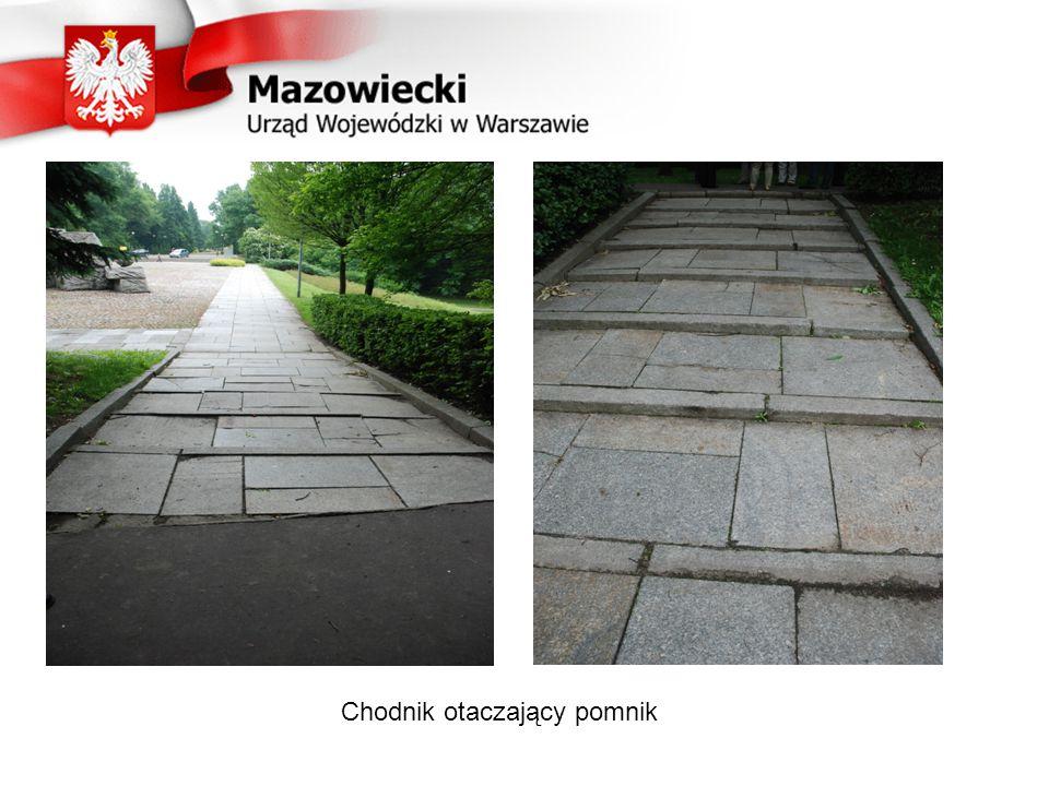 Chodnik otaczający pomnik