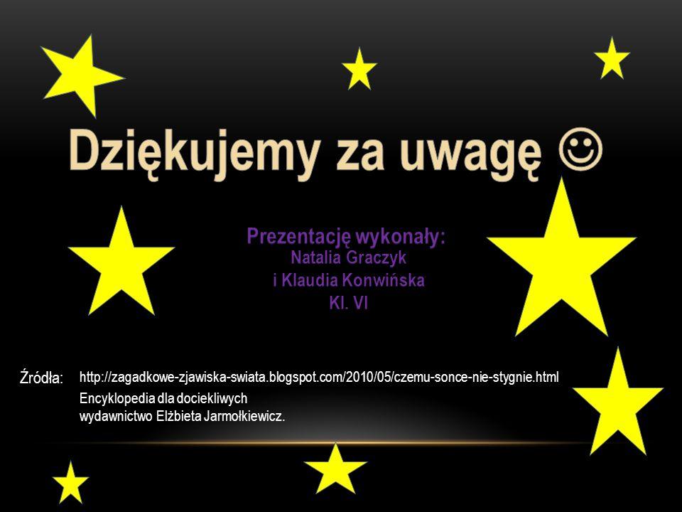 http://zagadkowe-zjawiska-swiata.blogspot.com/2010/05/czemu-sonce-nie-stygnie.html Źródła: Encyklopedia dla dociekliwych wydawnictwo Elżbieta Jarmołkiewicz.