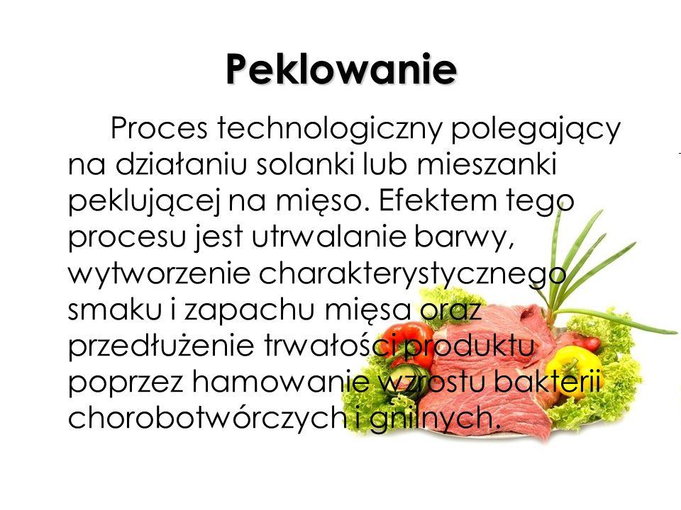 Kiszenie (kwaszenie) Jeden ze sposobów utrwalania (konserwacji) żywności, opierający się na procesie fermentacji mlekowej - cukry proste zawarte w komórkach roślinnych rozkładają się na kwas mlekowy (1-1,8%), zapobiegający m.in.