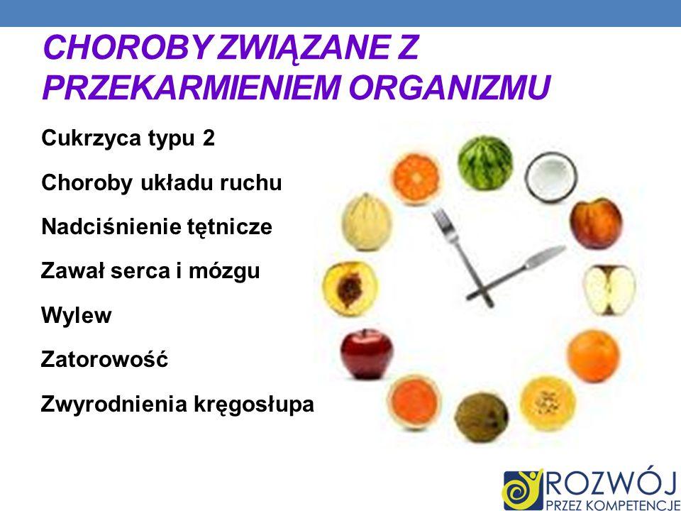 PRZYCZYNY OTYŁOŚCI powstawania otyłości jest przekarmianie (zbyt dużą wartością energetyczną pożywienia w stosunku do zapotrzebowania organizmu).