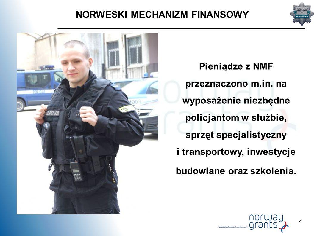 4 NORWESKI MECHANIZM FINANSOWY Pieniądze z NMF przeznaczono m.in.