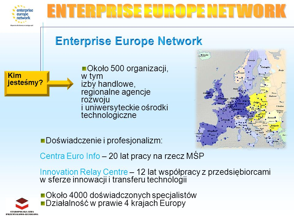 Projekty realizowane przez EIC PRAQIII - Standaryzacja w Unii Europejskiej, Oznaczenie CE – wspólny projekt zrealizowany we współpracy EIC Holandia POLISH BUSINESS FOR EUROPE PROJEKT PLATO POLSKA REGIONALNA STRATEGIA INNOWACJI PROFESJONALNE KADRY – MIĘDZYNARODOWY SUKCES FIRMY DORADCA EUROPEJSKI.
