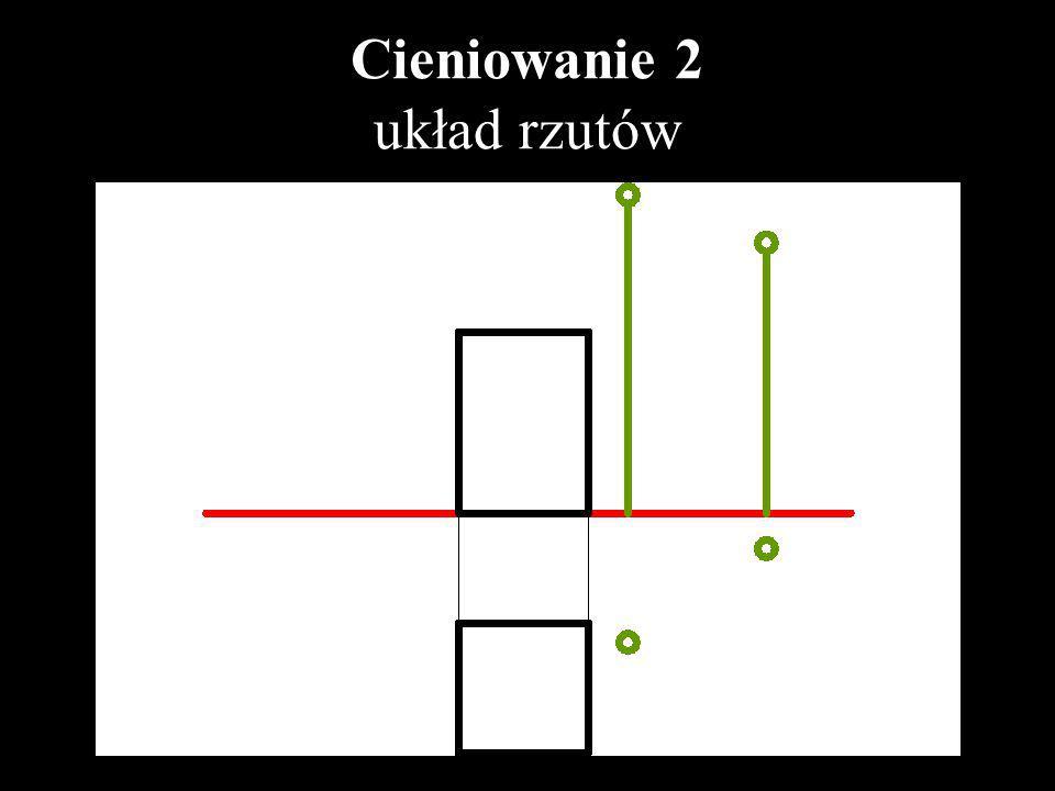 Cieniowanie 2 układ rzutów