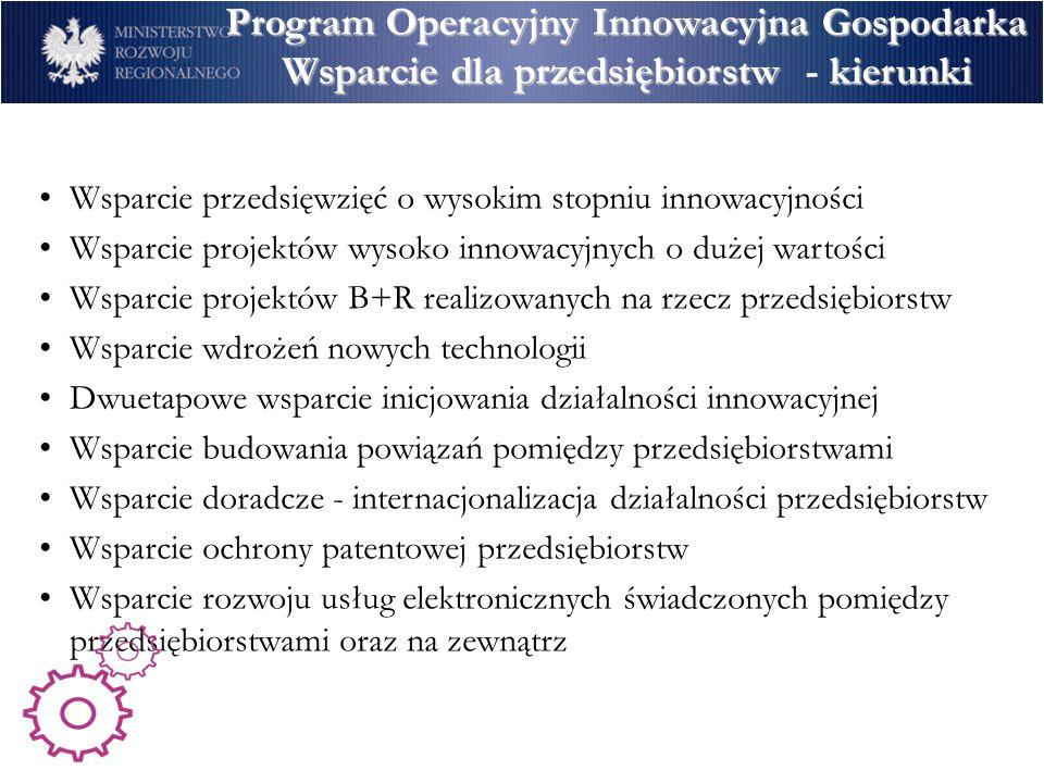 Program Operacyjny Innowacyjna Gospodarka Program Operacyjny Innowacyjna GospodarkaBeneficjenci