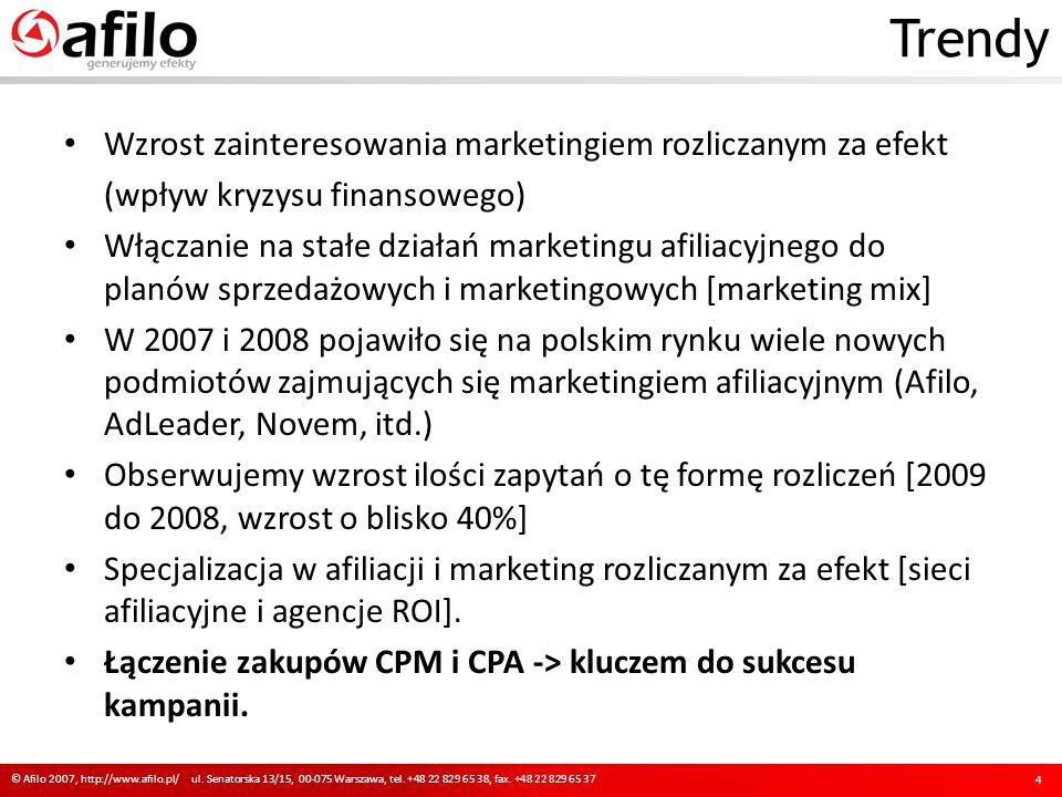 Trendy © Afilo 2007, http://www.afilo.pl/ ul. Senatorska 13/15, 00-075 Warszawa, tel. +48 22 829 65 38, fax. +48 22 829 65 37 4 Wzrost zainteresowania