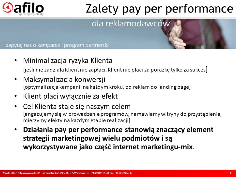 © Afilo 2007, http://www.afilo.pl/ ul.Senatorska 13/15, 00-075 Warszawa, tel.