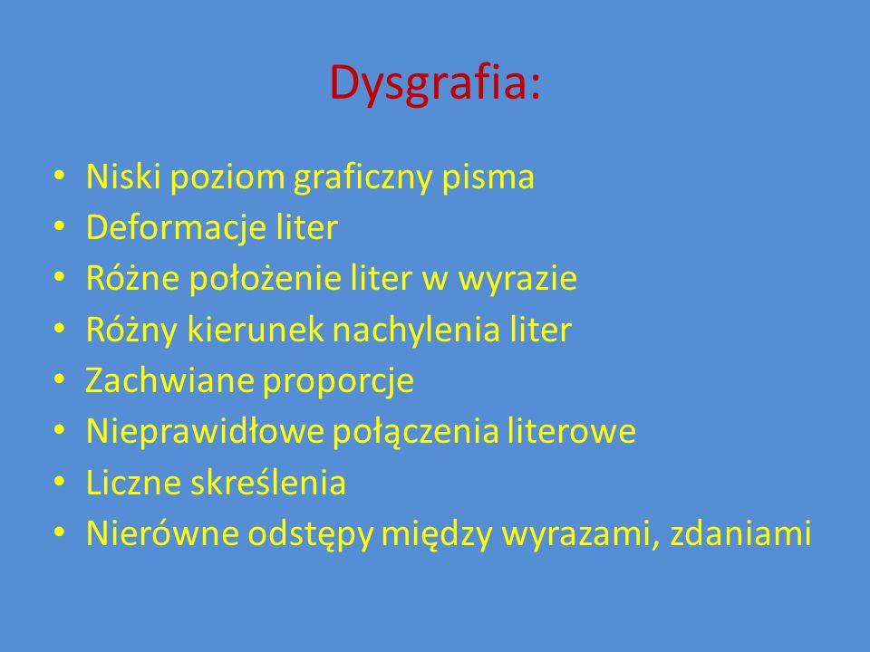 Wskaźniki ryzyka dysleksji