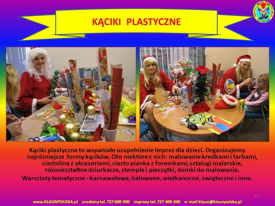Kąciki plastyczne to wspaniałe uzupełnienie imprez dla dzieci.
