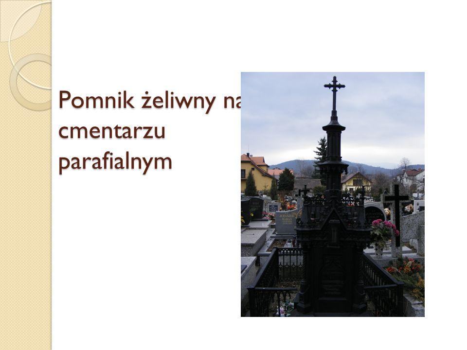 Pomnik żeliwny na cmentarzu parafialnym