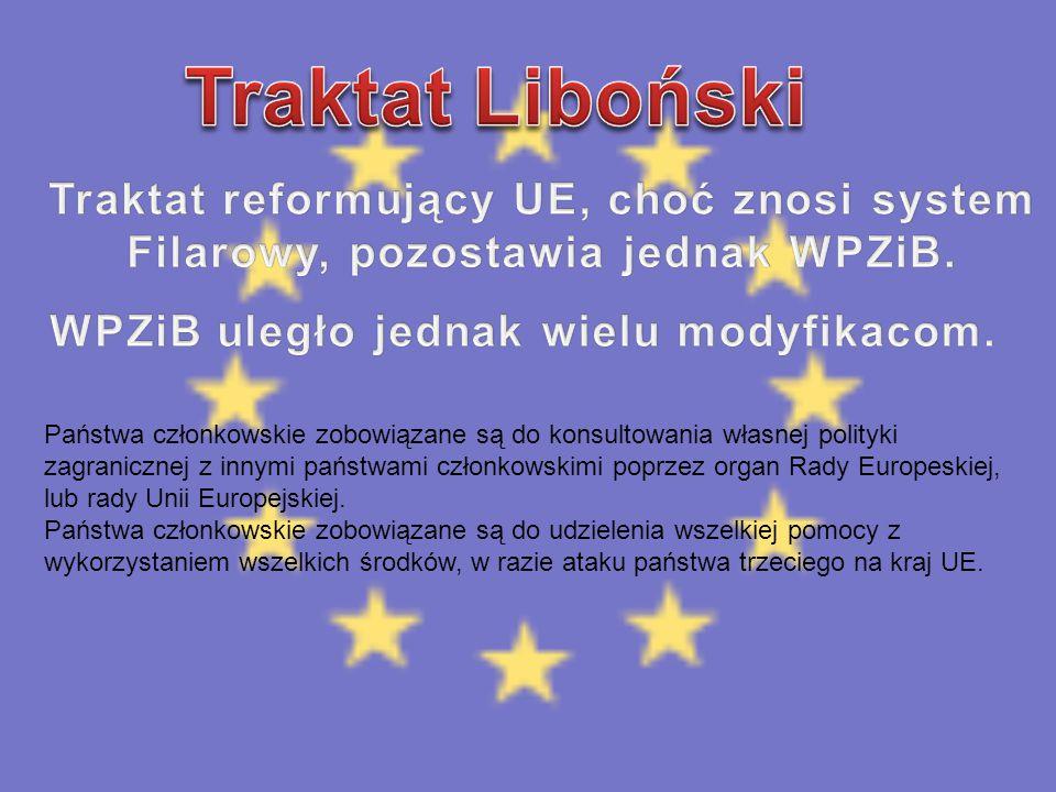 Państwa członkowskie zobowiązane są do konsultowania własnej polityki zagranicznej z innymi państwami członkowskimi poprzez organ Rady Europeskiej, lu