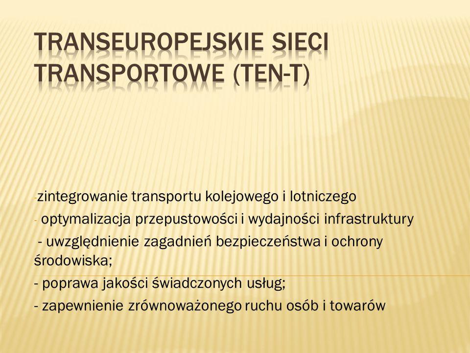 - zintegrowanie transportu kolejowego i lotniczego - optymalizacja przepustowości i wydajności infrastruktury - uwzględnienie zagadnień bezpieczeństwa