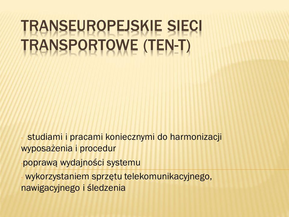 - studiami i pracami koniecznymi do harmonizacji wyposażenia i procedur - poprawą wydajności systemu - wykorzystaniem sprzętu telekomunikacyjnego, naw