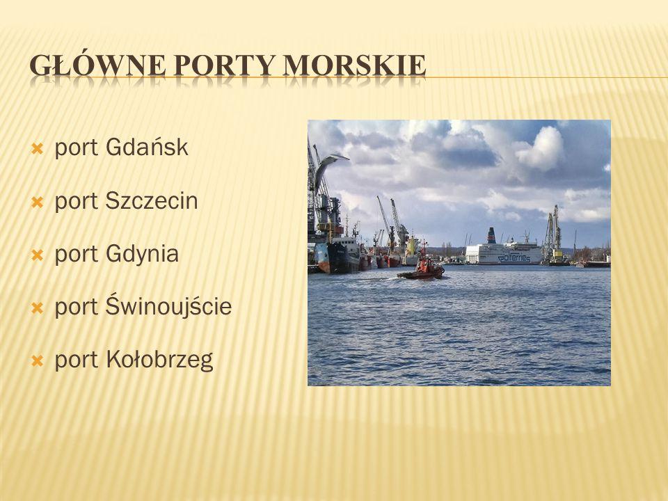  port Gdańsk  port Szczecin  port Gdynia  port Świnoujście  port Kołobrzeg