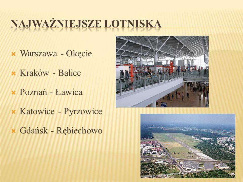  Warszawa - Okęcie  Kraków - Balice  Poznań - Ławica  Katowice - Pyrzowice  Gdańsk - Rębiechowo