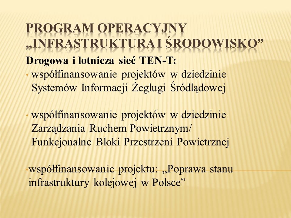 Drogowa i lotnicza sieć TEN-T: współfinansowanie projektów w dziedzinie Systemów Informacji Żeglugi Śródlądowej współfinansowanie projektów w dziedzin