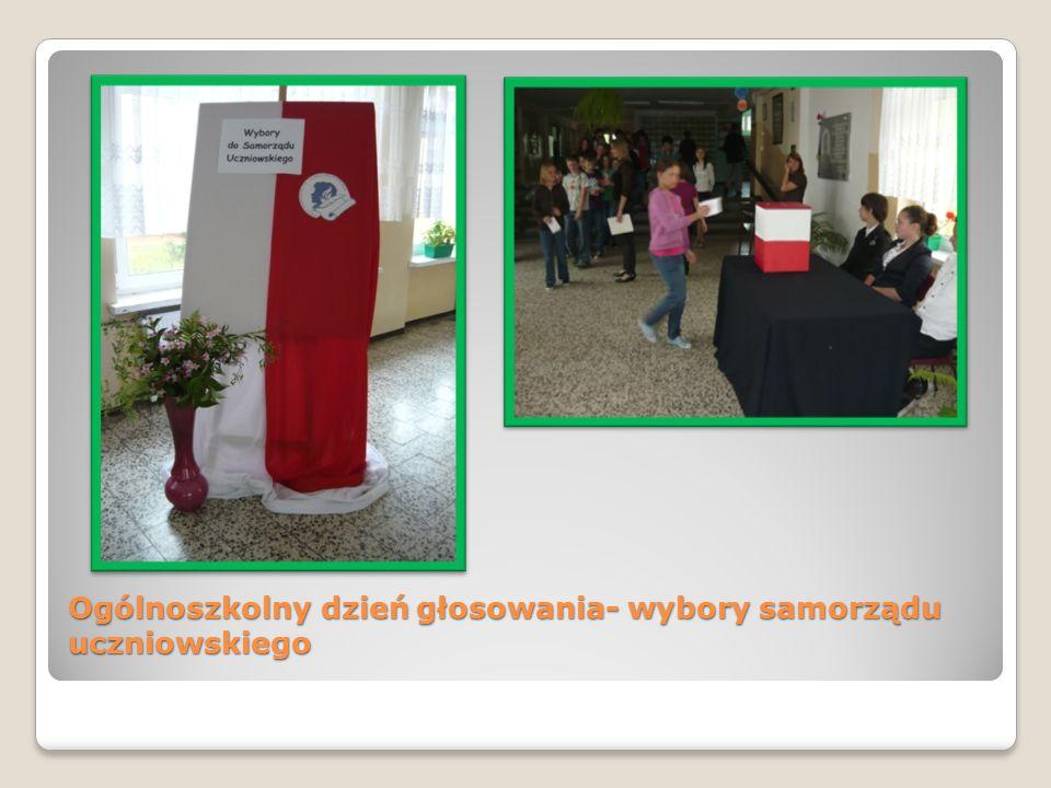 Ogólnoszkolny dzień głosowania- wybory samorządu uczniowskiego