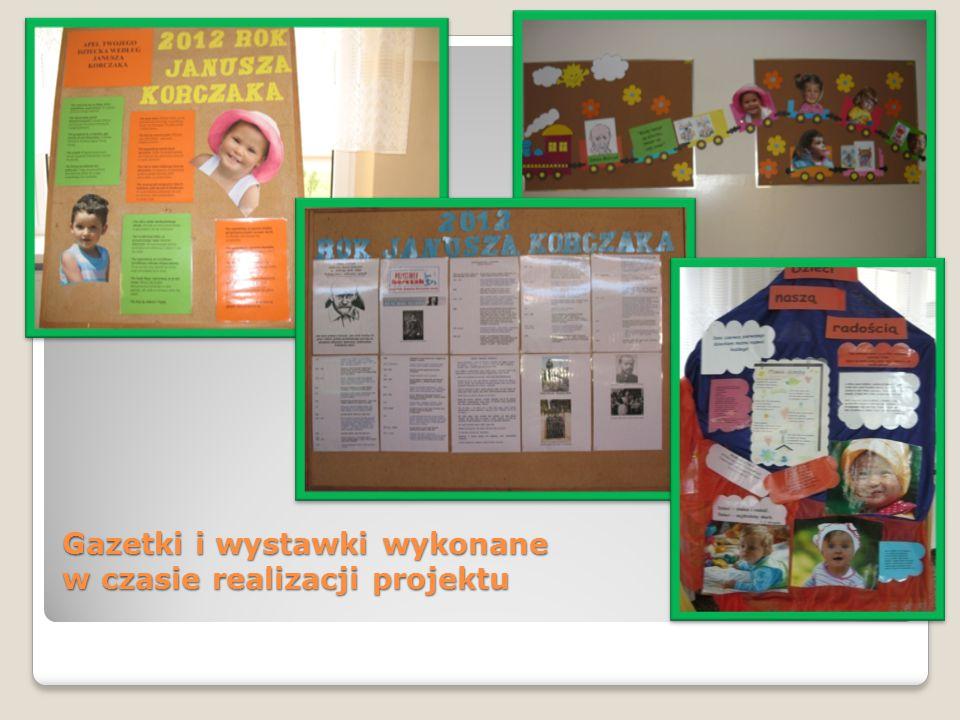 Gazetki i wystawki wykonane w czasie realizacji projektu