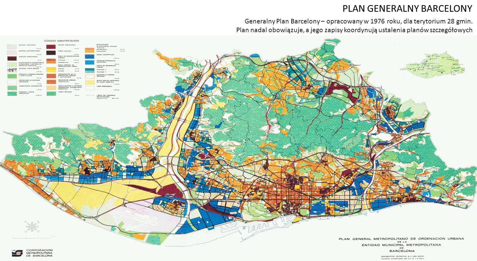 Generalny Plan Barcelony – opracowany w 1976 roku, dla terytorium 28 gmin.