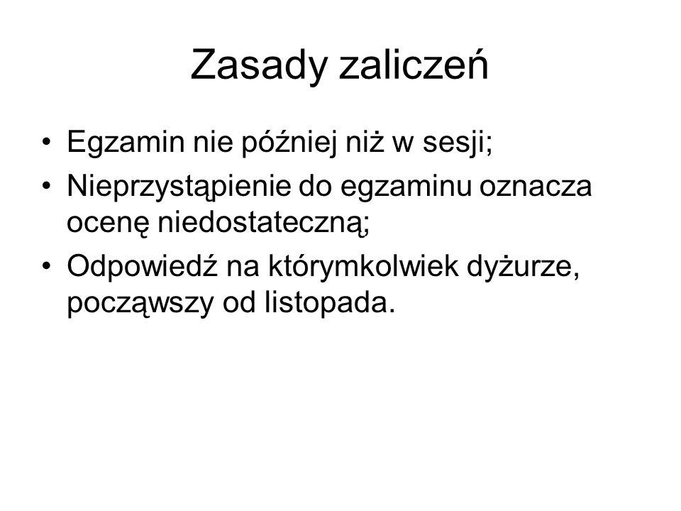 Literatura obowiązkowa M.