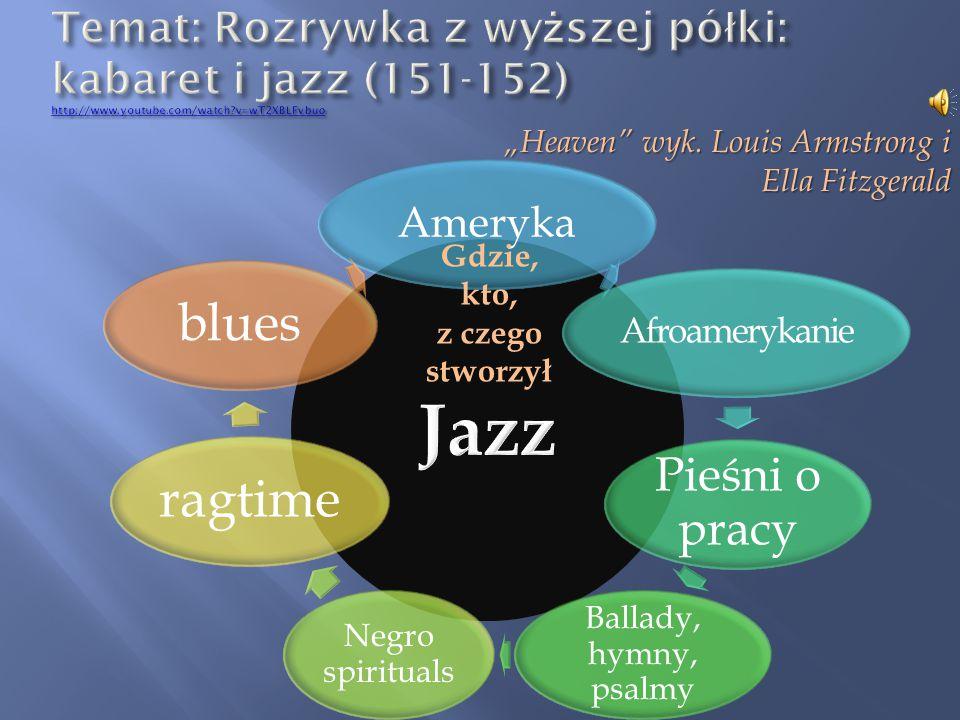  Standard jazzowy – popularna melodia, którą wciąż na nowo opracowują kolejni jazzmani.