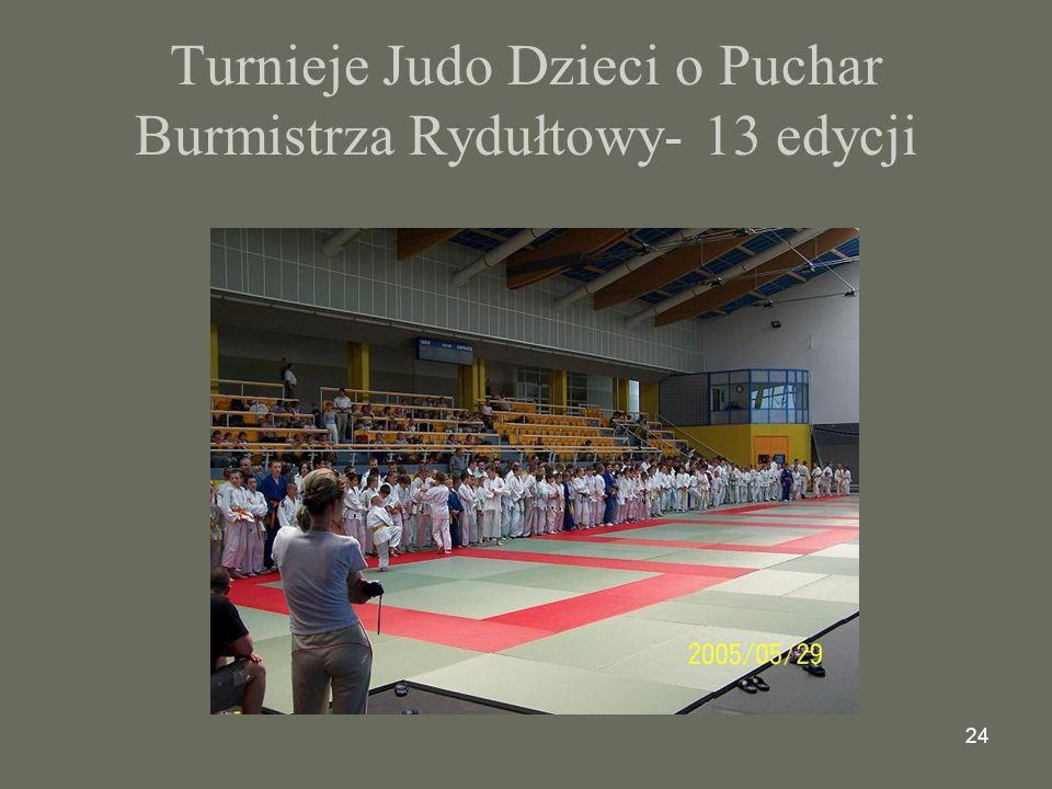 24 Turnieje Judo Dzieci o Puchar Burmistrza Rydułtowy- 13 edycji
