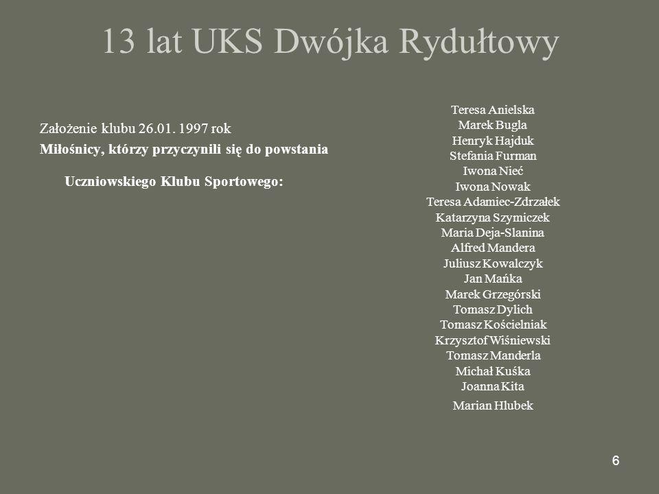 17 Marek Grzegórski sekretarz klubu jest współzałożycielem klubu.