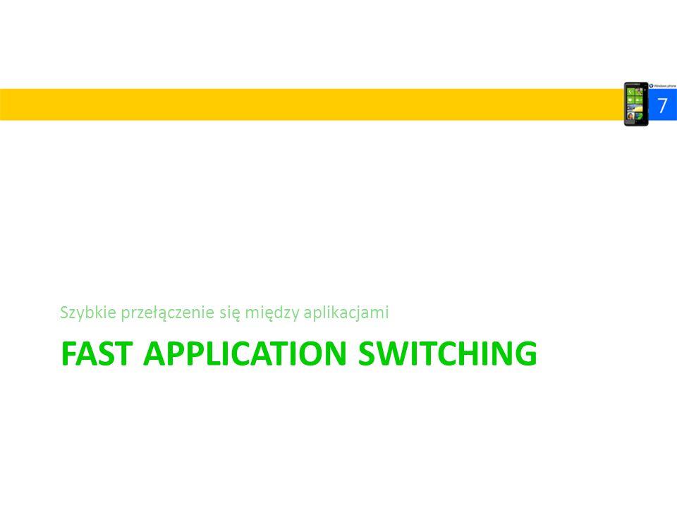 FAST APPLICATION SWITCHING Szybkie przełączenie się między aplikacjami