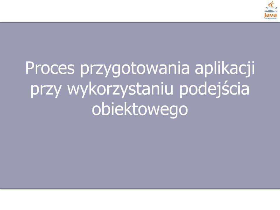 Proces przygotowania aplikacji przy wykorzystaniu podejścia obiektowego