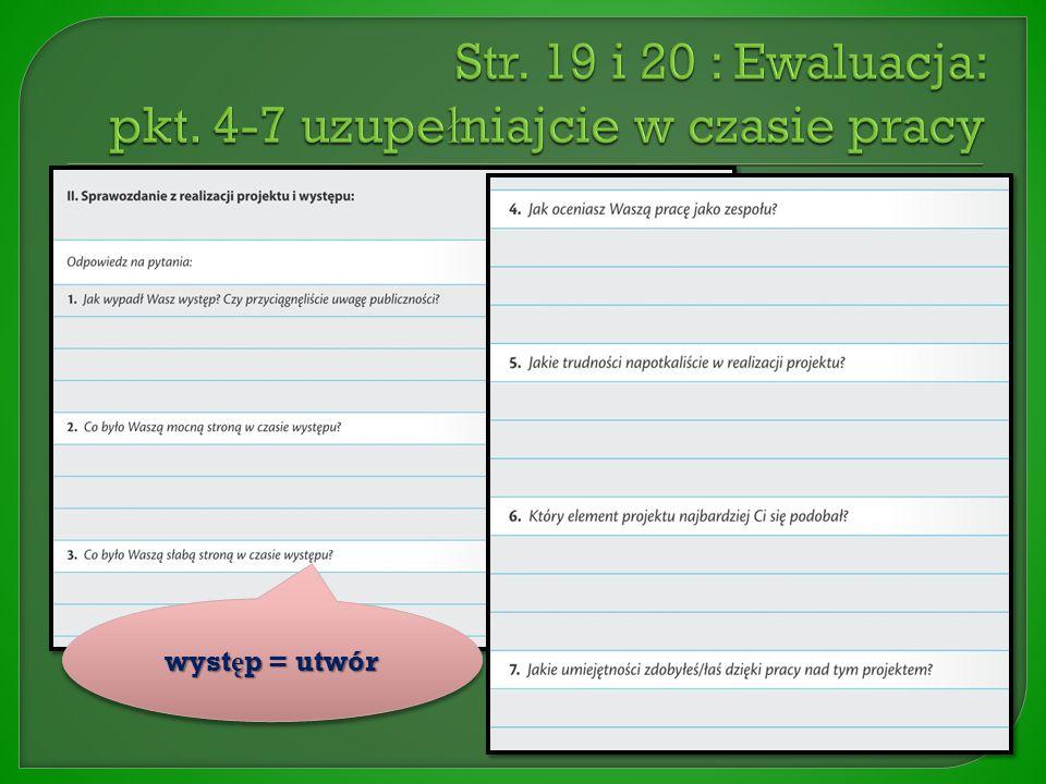  Skre ś lamy polecenie na str. 18  Puste pole mo ż na wykorzysta ć do notatek lub wykresów  Str.
