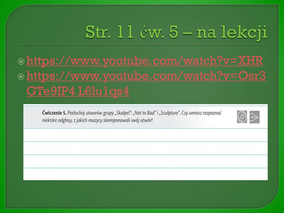  https://www.youtube.com/watch?v=XHR https://www.youtube.com/watch?v=XHR  https://www.youtube.com/watch?v=Osr3 GTe9IP4 L6lu1qs4 https://www.youtube.com/watch?v=Osr3 GTe9IP4 L6lu1qs4