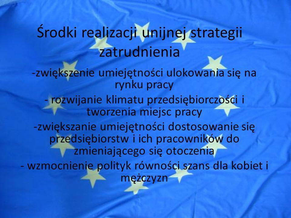 Środki realizacji unijnej strategii zatrudnienia W Wytycznych dla 2005 r.