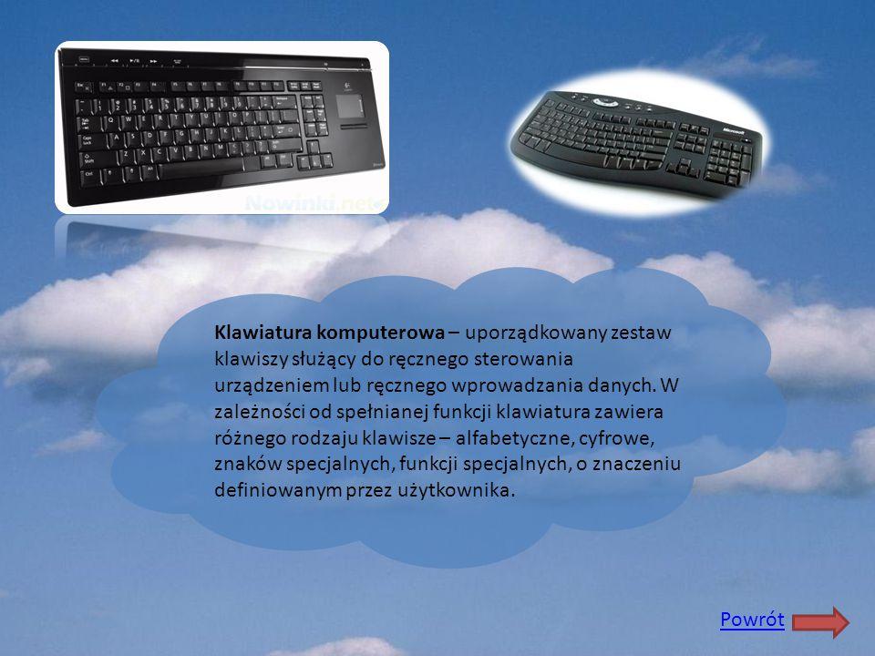 Klawiatura komputerowa – uporządkowany zestaw klawiszy służący do ręcznego sterowania urządzeniem lub ręcznego wprowadzania danych. W zależności od sp