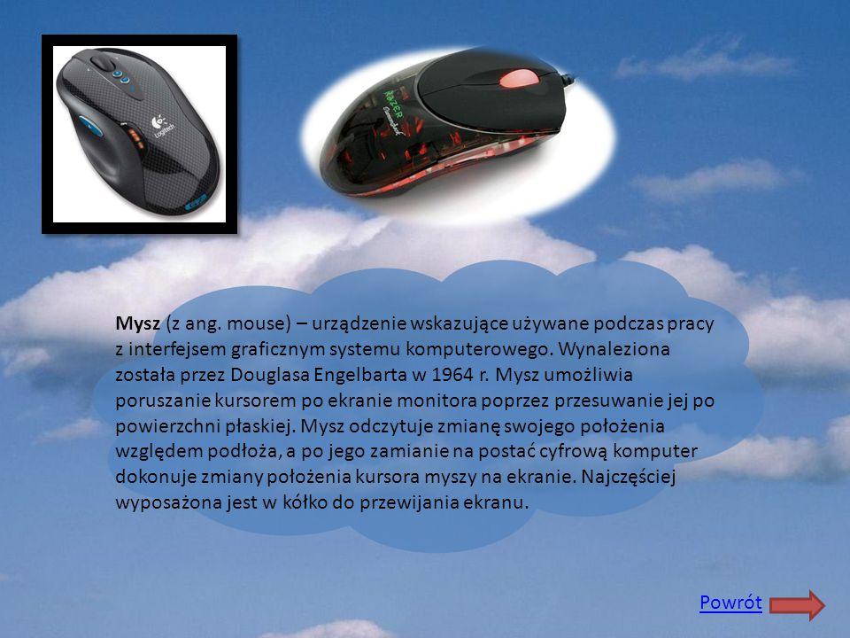 Mysz (z ang. mouse) – urządzenie wskazujące używane podczas pracy z interfejsem graficznym systemu komputerowego. Wynaleziona została przez Douglasa E