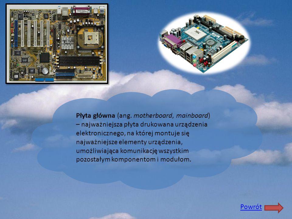 Płyta główna (ang. motherboard, mainboard) – najważniejsza płyta drukowana urządzenia elektronicznego, na której montuje się najważniejsze elementy ur