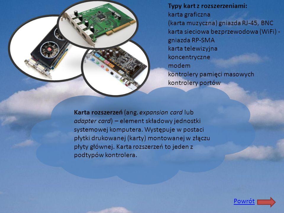 Karta rozszerzeń (ang. expansion card lub adapter card) – element składowy jednostki systemowej komputera. Występuje w postaci płytki drukowanej (kart